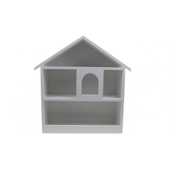 Biela police domček