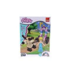Detská stavebnica kočiar pre princeznú