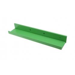 Drevená polica zelená