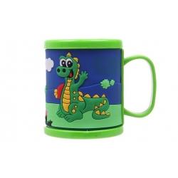 Hrnček detský plastový (zelený s krokodílom)