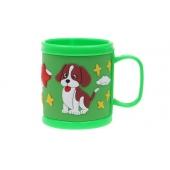 Hrnček detský plastový (zelený psík)