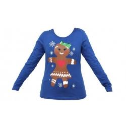 Dámske tričko vianočné modrej vel.XL