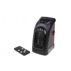 Teplovzdušný ventilátor do zásuvky s ovládačom 400 W