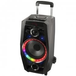 Prenosný Bluetooth reproduktor s mikrofónom NGS 220634 USB SD FM LED 80W Čierna