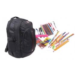 Batoh čierny s náplňou školských potrieb typ A