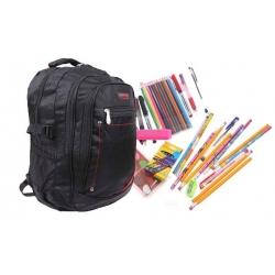 Batoh čierny s náplňou školských potrieb typ B