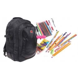 Batoh čierny s náplňou školských potrieb typ C