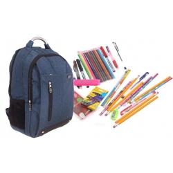 Batoh Advanced s náplňou školských potrieb modrý