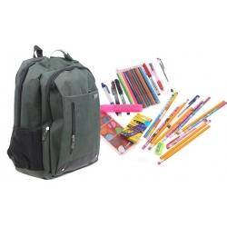 Batoh Advanced s náplňou školských potrieb zelený