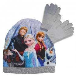 Súprava čiapka a rukavice Frozen - sivá