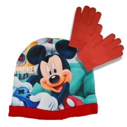 Súprava čiapka a rukavice Mickey Mouse - červená