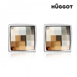 Ródiované náušnice Autumn Hûggot so Swarovski kryštálmi®