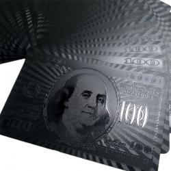 Čierne hracie pokrové karty