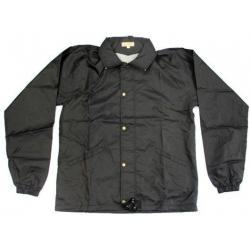 Pánska bunda s kapucou - čierna