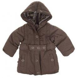 Dievčenský zateplený kabát hnedý veľ. 128