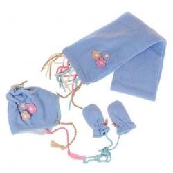 Dievčenské zimné set modrý M
