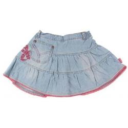 Džínsová sukňa s výšivkou vel.86