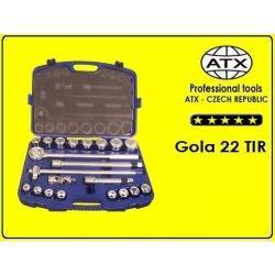 """Gola kľúče súprava - 22 dielov, 3/4"""", ATX"""