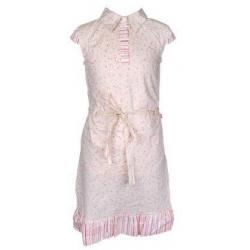 Šaty béžové kvetované vel. 128