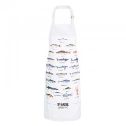 Kuchyňská zástera s rybami