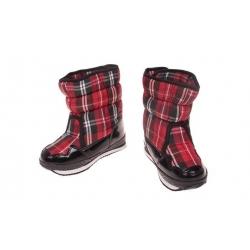 Detské zimné topánky červené