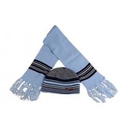 Čiapka detská zimná s šálom modrá