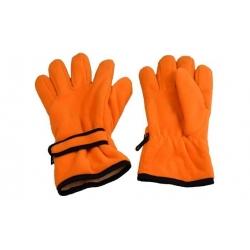 Rukavice fleecové oranžové