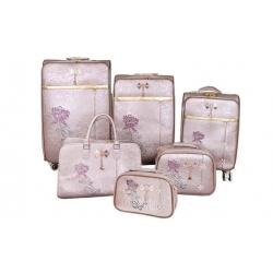 Sada 6 kufrov Luxi s růží