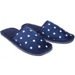Papuče domáce bodkované tmavo modré