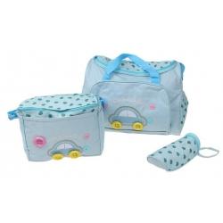 Prebaľovacia taška set 3 ks modrá