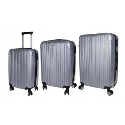Sada 3 kufrov - škrupinové t.1901 sivá
