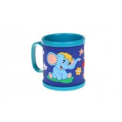 Hrnček detský plastový (modrý slon)