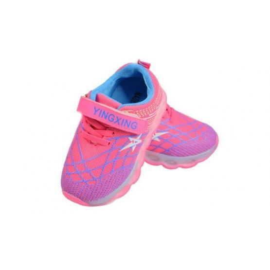 Detské tenisky blikajúce ružovomodré 26, 27, 28, 29, 30