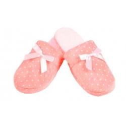 Papuče zateplené svetlo ružové s hviezdičkami 36/37