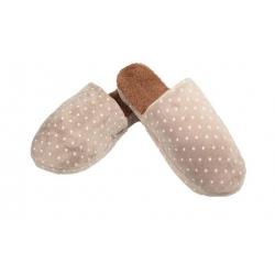 Papuče zateplené hnedé s hviezdičkami vel.42/43