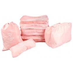 Cestovní organizér do kufru 6ks ružový