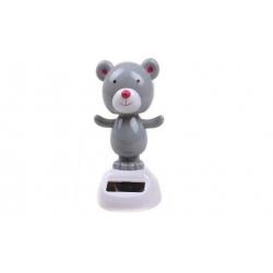 Solárne tancujúce dekorace medveď šedý