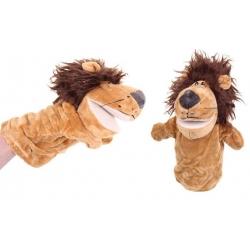 Plyšový maňuška na ruku lev