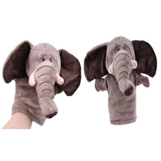 Plyšový maňuška na ruku slon