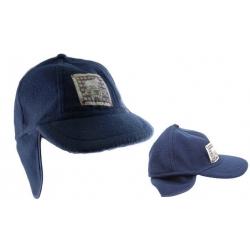 Detská čiapka modrá s nášivkou