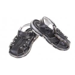 Detské sandálky blikajúce čierne vel.23