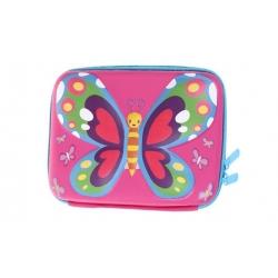 Peračník 1poschodový 3D motýľ ružový