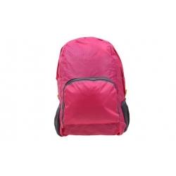 Skladací cestovný batoh ružový