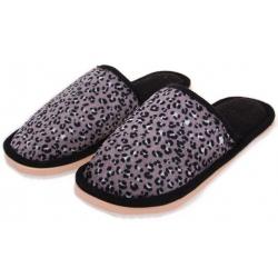 Papuče domáci leopardí čierne vel.36/37