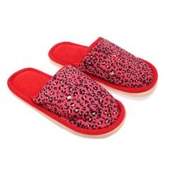 Papuče domáci leopardí červené vel.36/37