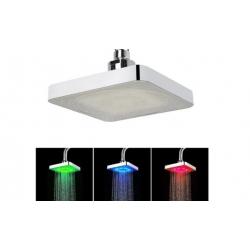 LED sprchová hlavica hranatá