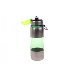 Fľaša na pitie s plastovým náustkom zelená