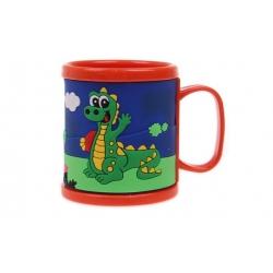 Hrnček detský plastový (oranžový s krokodílom)