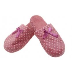 Papuče zateplené tmavo ružovej s kosoštvorcami vel.36/37