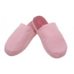 Papuče zateplené ružové s pruhmi vel.38/39